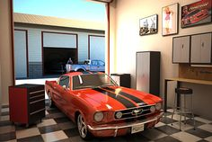 Garage Man Cave Ideas | Garage Plus lets you (yes, you) own a Man Cave. | In My Garage