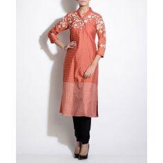 Rust Orange Printed Tunic By AM:PM #Anarkali #KurtaSet #Prints - Indian Fashion Clothing #Dress #Quirky #Motifs #Embroidery #Floral #Black #Brown #India #Blue #Fuchsia #Designer Indian Salwar Kameez – Indian Suits – Designer Wear of India #Indian #Luxury #Ethnic #DesignerWear #Fashion #AnkurModi #PriyankaModi #ExclusivelyIn #AMPM #Style - Shop Indian Ethnic Wear Online - Designer Dresses of India, Buy Online