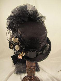 edc00a22d8c Elsie Massey Steampunk Black Riding Hat Style Steampunk