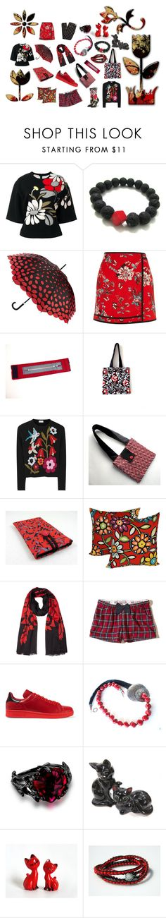 """""""Red Black Pack"""" by fivefoot1designs ❤ liked on Polyvore featuring Marni, Lulu Guinness, River Island, RED Valentino, Kenzo, Hollister Co., adidas Originals, Stance, etsy and etsygifts"""