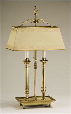 "Decorative Crafts brass table lamp #8333  |  15""w x 8""d x 27.5""h"