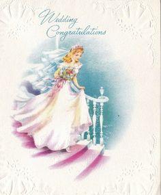 Vintage Wedding Cards, Vintage Wedding Invitations, Vintage Cards, Vintage Images, Vintage Weddings, Vintage Stuff, Vintage Stationary, Greeting Card Companies, Old Greeting Cards