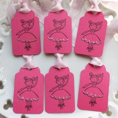 Ballerina Party Tags Favor Gift