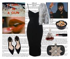 """A GIRL IS A GUN"" by mariaalovett ❤ liked on Polyvore featuring Alaïa, Chloé, Zara, Alexander McQueen and NARS Cosmetics"