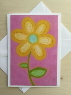Stationery Cards Set of 10- Junior Petals Yellow Starburst
