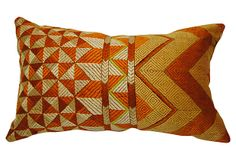 Gold Indian Phulkari Bagh Pillow on OneKingsLane.com