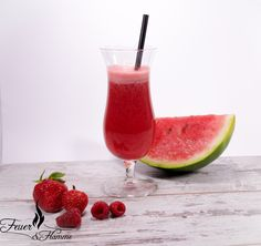 Juicing the Rainbow: Red Hurricane Glass, Juices, Watermelon, Smoothies, Fruit, Tableware, Red, Alkaline Recipes, Food Dinners