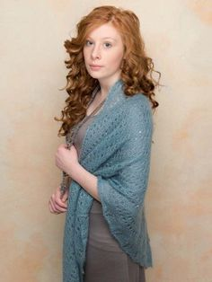 This summery, lightweight shawl is a FREE knitting pattern download from Rowan. It's gorgeous!
