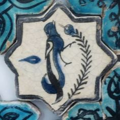 Turkish Seljuk Bird and Olive Branch Tile From Konya Karatay Medrese(School). The Turkish Seljuk tiles now displayed at the Karatay Medrese in Konya originally decorated the walls of the century Kubadabad Palace on the shores of Lake Beyşehir. Turkish Tiles, Turkish Art, Antique Tiles, Islamic Art, Art And Architecture, Ceramic Pottery, Birds, Antiques, Prints