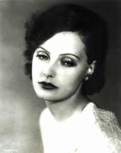 The above picture really shows what a throwback this kind of eye makeup was to that of film stars like Greta Garbo. Hollywood Cinema, Old Hollywood Glamour, Classic Hollywood, Hollywood Actresses, Doe Eyes, Carole Lombard, Marlene Dietrich, Female Stars, Silent Film