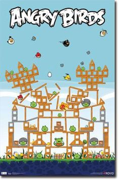 Angry Birds – Pig Fort RP1400 New Game Poster 22x34