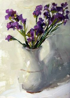 Purple Statice | original oil painting by artist Gina Brown