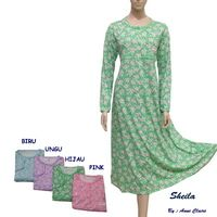 SHEILA Baju Gamis / Daster Panjang Klok Tali Belakang Anne Claire