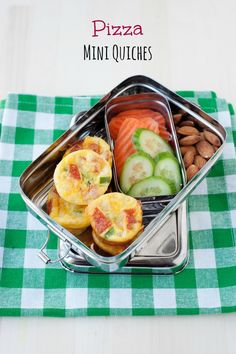 pizza mini quiches school lunch