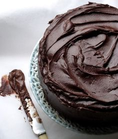 Hunger and Sauce: An ultra rich chocolate orange fudge cake - Chocolate Sweets, Chocolate Orange, Chocolate Fudge, Cake Cookies, Cupcake Cakes, Cupcakes, Greek Sweets, Fudge Cake, Cake Recipes