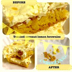 {Recipe}Toasted Coconut Lemon Brownies!