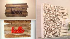 Decorare le pareti di casa con pallet di legno