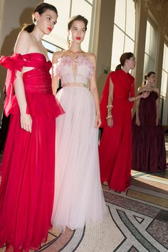 Behind the scenes at Giambattista Valli from Paris couture week.