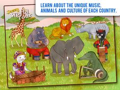 Jazzy World Tour - Musical Journey for Kids ($4.99 - FREE on 5/17/13)   Join our two kittens on a magical journey as they travel the world in a hot air balloon. Visit Brazil, Spain, India, Australia and more, as we explore each country's unique music and culture. Play the different musical instruments with interactive fun pages filled with entertaining sounds and vivid illustrations.