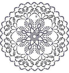 Trendy ideas for crochet blanket flower ganchillo Crochet Doily Patterns, Crochet Diagram, Crochet Chart, Crochet Squares, Crochet Granny, Crochet Designs, Crochet Doilies, Crochet Flowers, Crochet Stitches