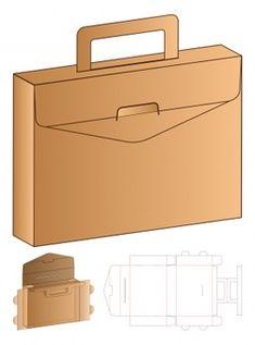Cardboard Suitcase, Cardboard Box Crafts, Bag Packaging, Packaging Design, Die Cut Boxes, Paper Purse, Vintage Logo Design, Party In A Box, Diy Box