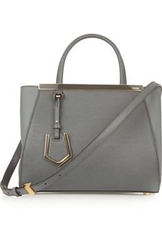 Gray leather, anthracite textured-leather (Calf) Snap-fastening tab at open top Weighs approximately 2.9lbs/ 1.3kg
