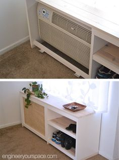 Design Tip – Hide An Air Conditioning Unit With Custom Shelving ...