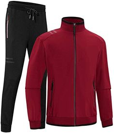 fed1e012ee64b Amazing offer on Sun Lorence Men's Athletic Running Tracksuit Set Casual  Full Zip Jogger Sweat Suit online