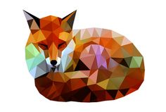Shape. f▲x Kamilla Marant, Ukraine. This digital artist used alternating colored triangles to form the image of a fox. The light toned colors create a peaceful, natural feeling. It's a more modern piece of art but still draws a connection to the viewer.