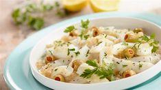 Szaszłyki z krewetek w słodko-ostrej marynacie - przepis • Kuchnia Lidla Lidl, Potato Salad, Potatoes, Ethnic Recipes, Food, Eten, Potato, Meals, Diet