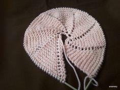 capotita esta realizada... Lana, Knitted Hats, Winter Hats, Beanie, Textiles, Blog, Knitting, Diy, Baby Room
