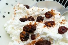 Recipe: Lumpy Bumpy Cottage Cheese w/raisins, pumpkin butter and apples!