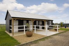 Three Stables and Feed Room with Featheredge Cladding
