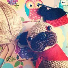 Crochet dog pug