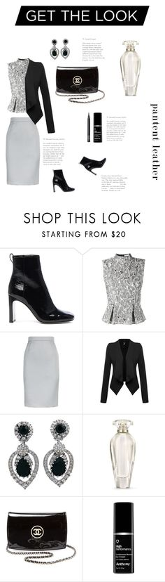 """City Slickers: patent leather (contest)"" by samantha-anker ❤ liked on Polyvore featuring rag & bone, Erdem, ESCADA, Ciner, Victoria's Secret, Chanel and NARS Cosmetics"