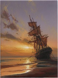 "Exceptional ""legend of the seas"" info is offered on our internet site. Ship Paintings, Great Paintings, Seascape Paintings, Fantasy Landscape, Fantasy Art, Legend Of The Seas, Old Sailing Ships, Sea Of Thieves, Ghost Ship"