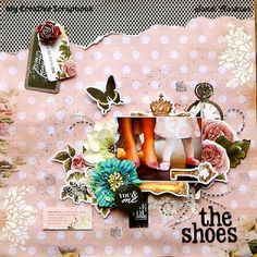 The Shoes ~ My Creative Scrapbook January 2016 Limited Edition Kit Kaisercraft Ma Cherie Collection