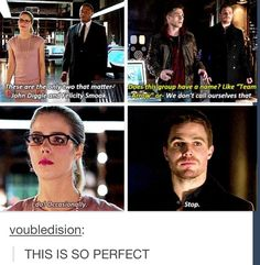 codename for Oliver Queen and his partners. Oliver And Felicity, Felicity Smoak, Arrow Felicity, Team Arrow, Arrow Tv, Arrow Quote, Supergirl Dc, Supergirl And Flash, The Flash