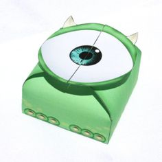Monsters Inc  Inspired Mike Wazowski Gift Box Instant by Shnookers, $3.00