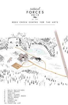 land illustration for 'Wedding Festival' Ross Creek Centre for the Arts - Sarah Burwash