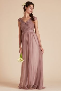 d9c06bdb9b9 Christina Convertible Dress - Sandy Mauve. Tulle Bridesmaid ...