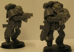 Converted Space Marine with bolt pistol sidearm in firing pose