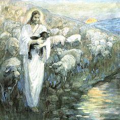 All sizes | The Good Shepherd 101 Minerva Teichert | Flickr - Photo Sharing!