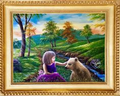 """'""""I love you💕 Please don't eat me"""" painted by Jean Cathcart.  Have a terrific day today to all my neybers friends!!😊😊😊😊😘😘😘😘😘😘' created in #neybers"""