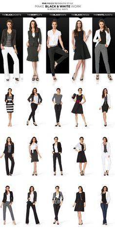 White House Black Market – 5 Pieces To Endless Style Make Black & White Work In Beautiful Ways