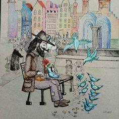 Masz serce na dłoni, los się Tobie ukloni.... To co piękne, zazwyczaj nadlatuje znienacka,  przychodzi niespodziewanie...  Trwaj w gotowości na  spotkanie....   Miłofajnego dnia dla każdego  #handmadedraw #drawing #rysunek #sketches #sztuka #ilustracjadladzieci #zeichnen #zeichnung #skizze #kunst #bajkanadobranoc #dessin #disegno #tegning #рисунок #искусство #эскиз #art #그림 #예술 #스케치 #芸術   #絵 #polishartists #walldecorations