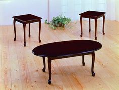 Cherry Traditional Ocassional Table Set By Crown Mark Furniture # Cherry Coffee Table, Coffee And End Tables, End Table Sets, Coffe Table, Side Tables, Bed Furniture, Furniture Sale, Living Room Furniture, Furniture Ideas