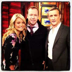 Here's Kelly with Donnie Wahlberg and guest co-host Dan Abrams!