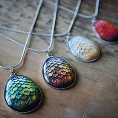 Game of Thrones Dragon Egg Pendant Necklace // I'm not even in this fandom, and these are awesome.