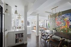 Daphne Oz Is Selling Her Manhattan Apartment For $2.5 Million Robert Abbey Linear Chandelier